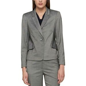 Tommy Hilfiger Pinstripe One-Button Blazer Jacket